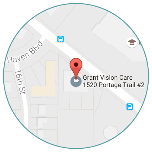 Map of Grant Vision Care's location